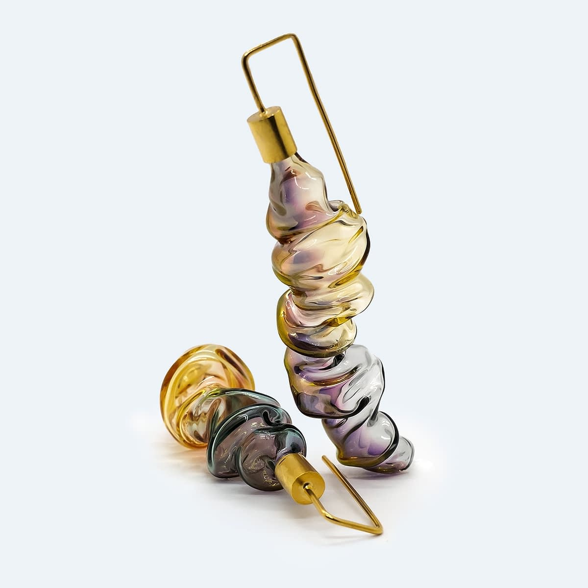 Golden Shapes Earrings