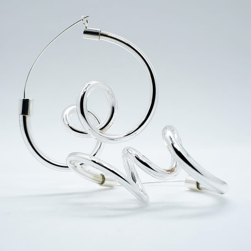 Agustina Ros earrings ringlets silver