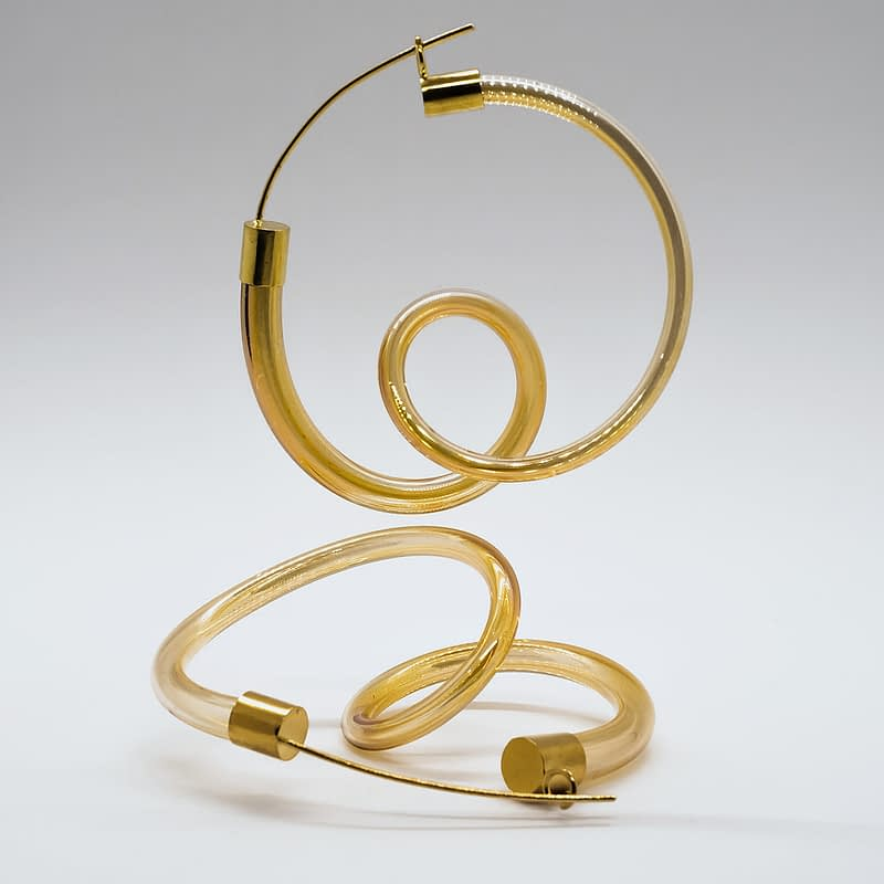 Agustina Ros earrings ringlets gold