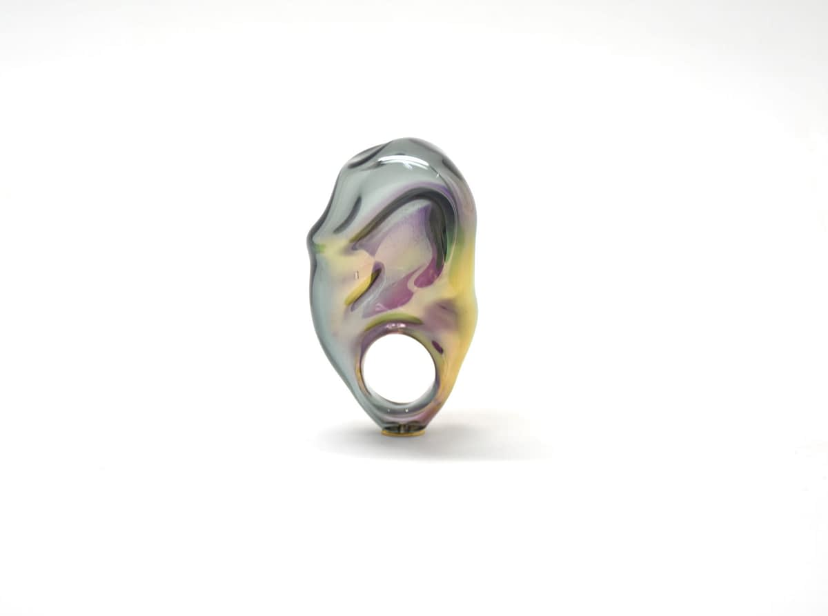 GOLD REFLECTION RING ¨BLACK¨ 2