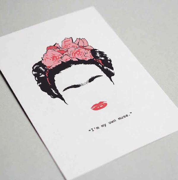 Frida Kahlo postal