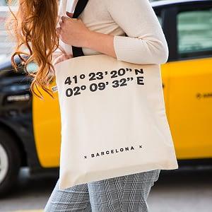 Bolsa de algodón coordenadas Barcelona
