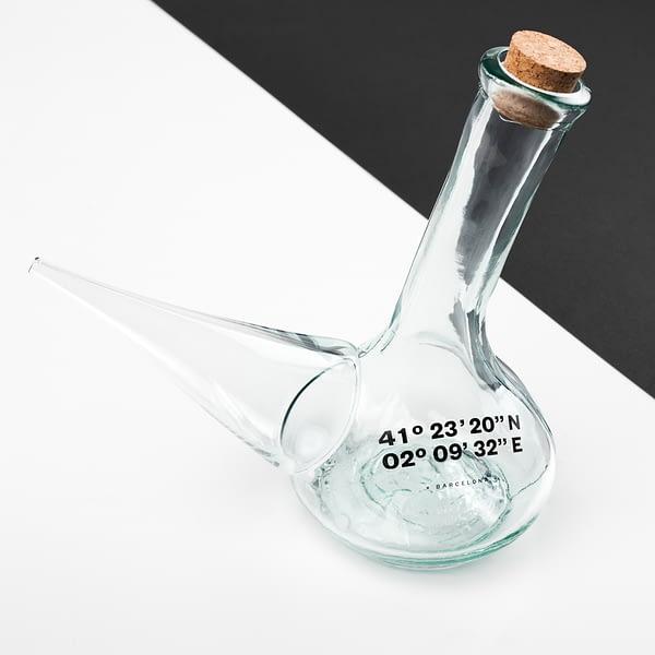 Porrón de vidrio reciclado