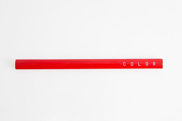 lápiz diseño rojo