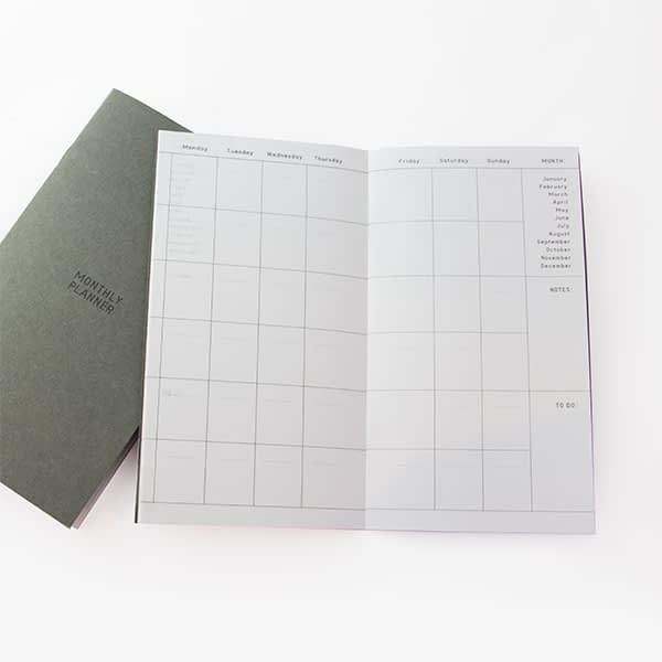 Agenda personal color gris