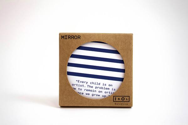 Stripes pocket mirror