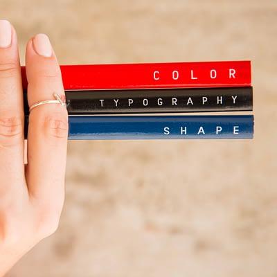 Lápices diseño colores